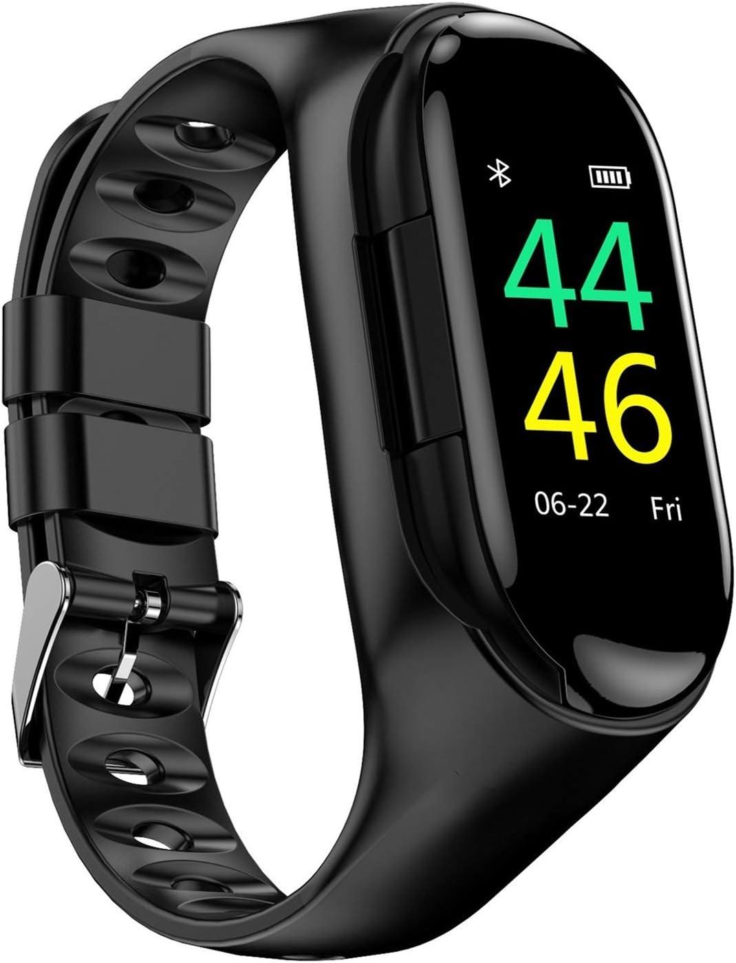 JIAYU Reloj Pulsera Inteligente, 0,96 Pulgadas de Pantalla en Color Una máquina de Doble Uso Dual Deportes Auriculares Bluetooth, Dos en Uno Sleep Detección Inteligente del Reloj