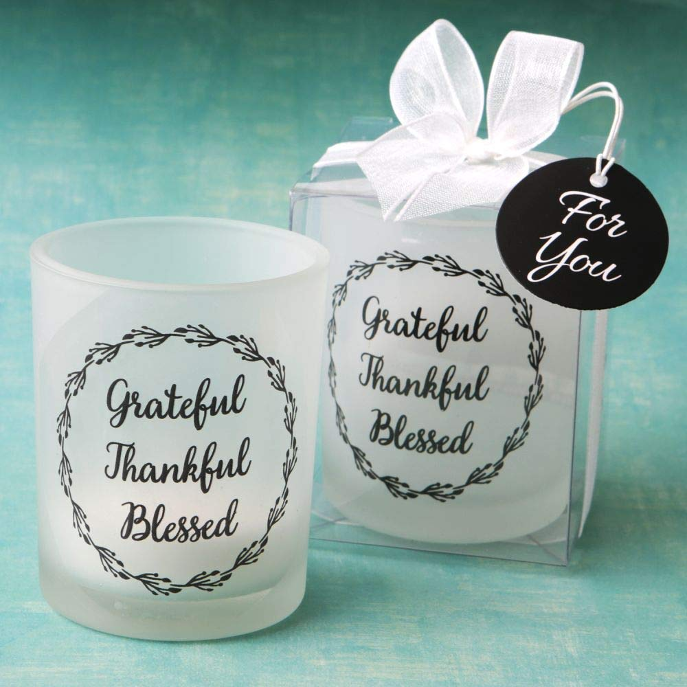 Grateful, Thankful, Blessed Candle Votive (50)