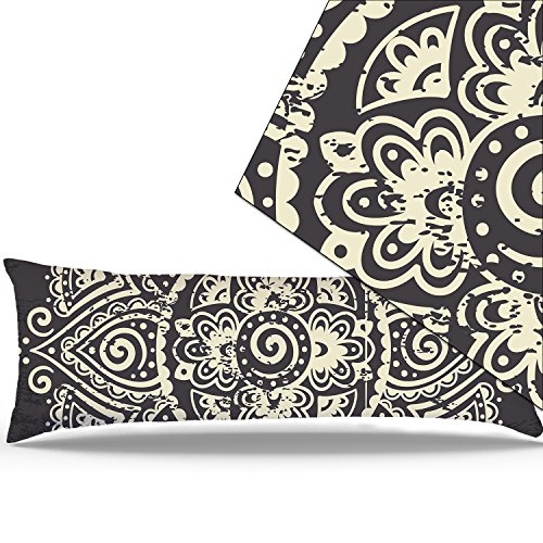 "Miller00 Body Pillowcase 20"" x 54"" Zipper Cotton Maternity Pregnancy Long Body Pillow Covers Cases Bohemian Spirit Mandala Hotel Home Decorative At Bed"