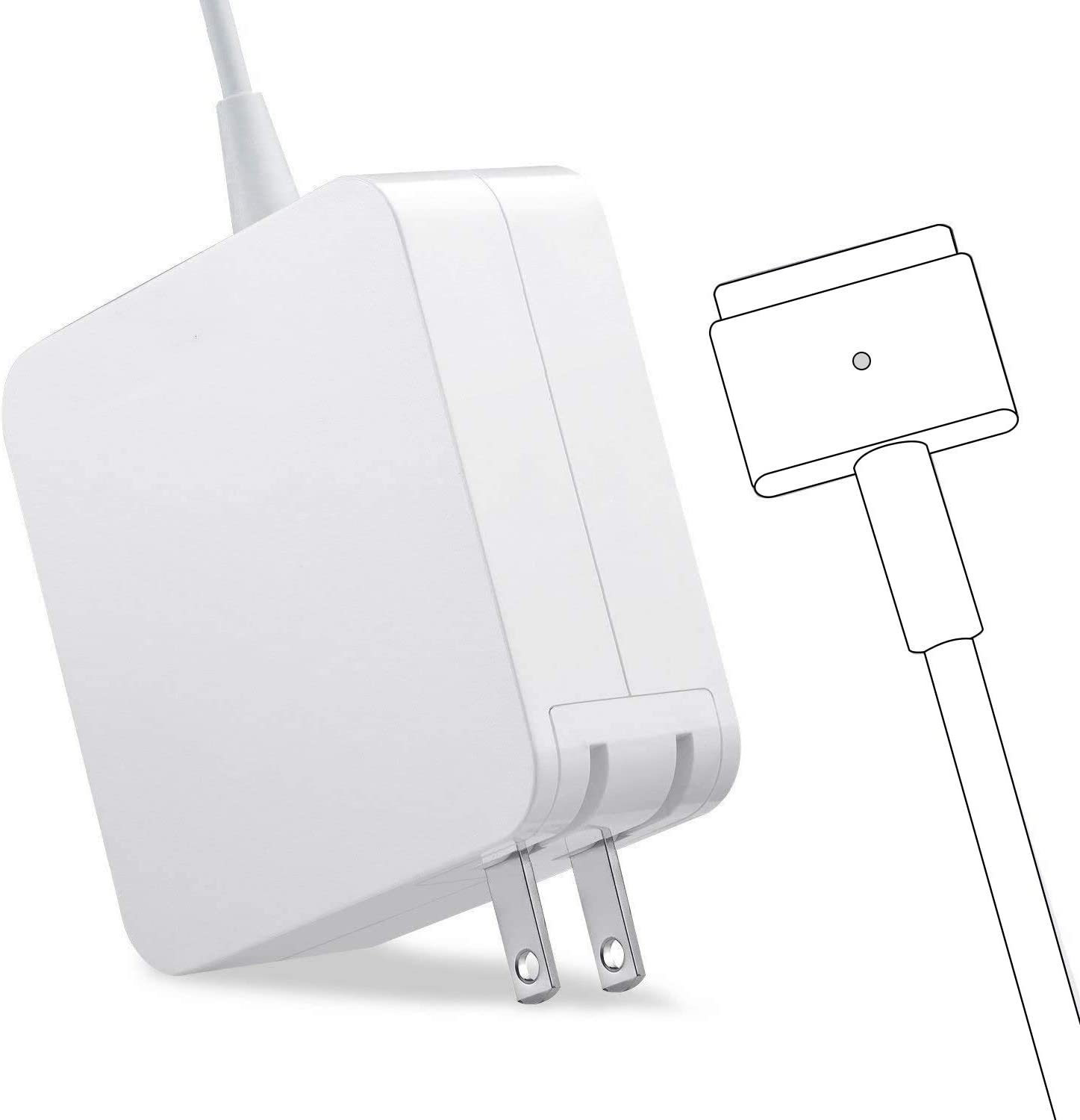 Mac Book Pro Charger, AC 85w Magnetic T-Tip Power Adapter Charger Compatible with MacBook Pro 17/15/13 Inch (After Mid 2012)