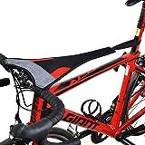 ROCKBROS(ロックブロス)スウェットカバー 汗防止カバー 室内トレーニング ローラー台用 サイクルトレーナー 自転車 汗落ち防止 速乾 スマホンタッチ機能