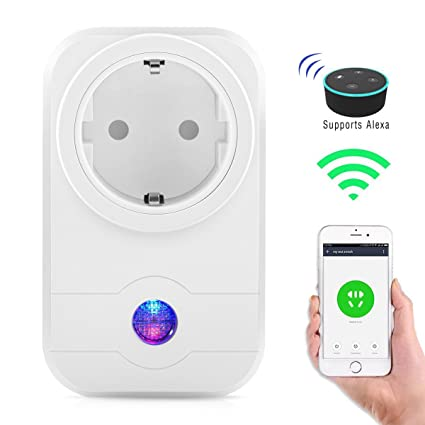 Alexa WiFi enchufe, exsart inteligente wifi Smart enchufe funciona con Amazon Alexa y Google Home