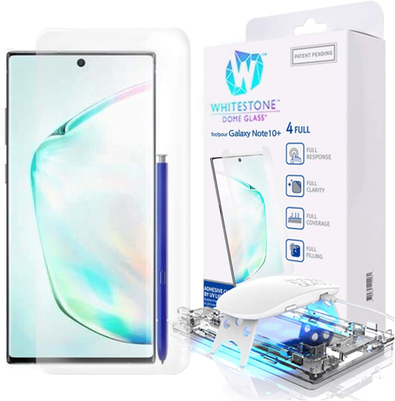 Galaxy Note 10 Plus Screen Protector, [Dome Glass] Full 3D Curved Edge Tempered Glass Shield [Liquid Dispersion Tech] Easy Install Kit for Samsung Galaxy Note 10+ and Note 10 + 5G - One Pack