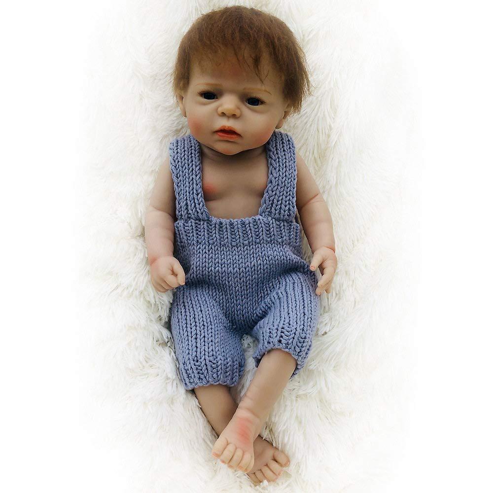 los últimos modelos LUCKYFANWU Muñeca de simulación, simulación, simulación, muñeca Realista renacida, niña, 22 Pulgadas, Puede Sentarse, Puede acoEstrellase, Puede Entrar en el Agua, Juguetes para bebés, Juguetes para niñas niño  popular