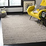 "Safavieh MDW343E-5 Meadow Collection Abstract Area Rug, 5'3"" x 7'6"", Taupe"
