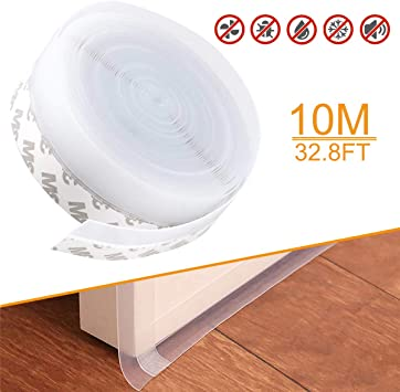 10m Door Seal Strip Bottom Self Adhesive Soundproof Weather Stripping For Window