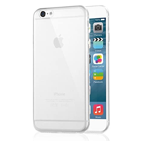 Starke Media - Carcasa de silicona para iPhone 6 (ultrafina, 0,3 mm, absorbe los golpes), translúcida transparente Iphone 6 - 5,5 pulgadas (Plus)