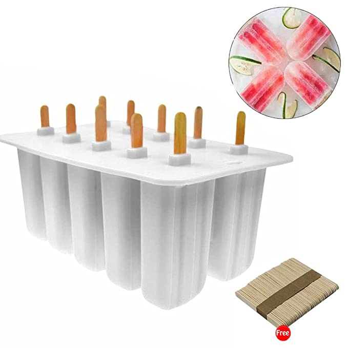 Compra Umiwe 10Pcs Ice Pop Popsicle Molds Set Food Silicone BPA Free Ice Lolly Maker Molde Easy Release con tapa sellada Kid Children DIY Frozen Ice Cream ...