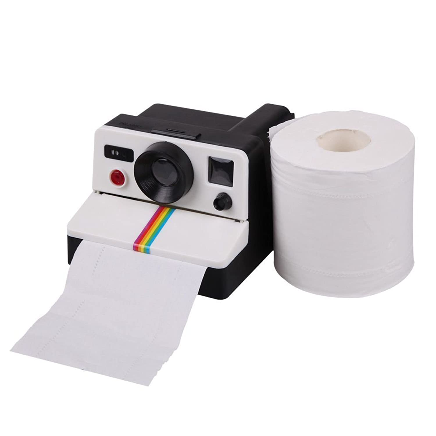 Graybird Polaroid Camera Style Toilet Bathroom Lavatory Washroom Paper Roll Holder