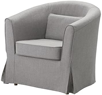Easy Fit The Ektorp Tullsta Chair Cover Replacement is Custom Made for IKEA Tullsta Cover, A Armchair Sofa Slipcover Replacement (Light Gray Cotton)