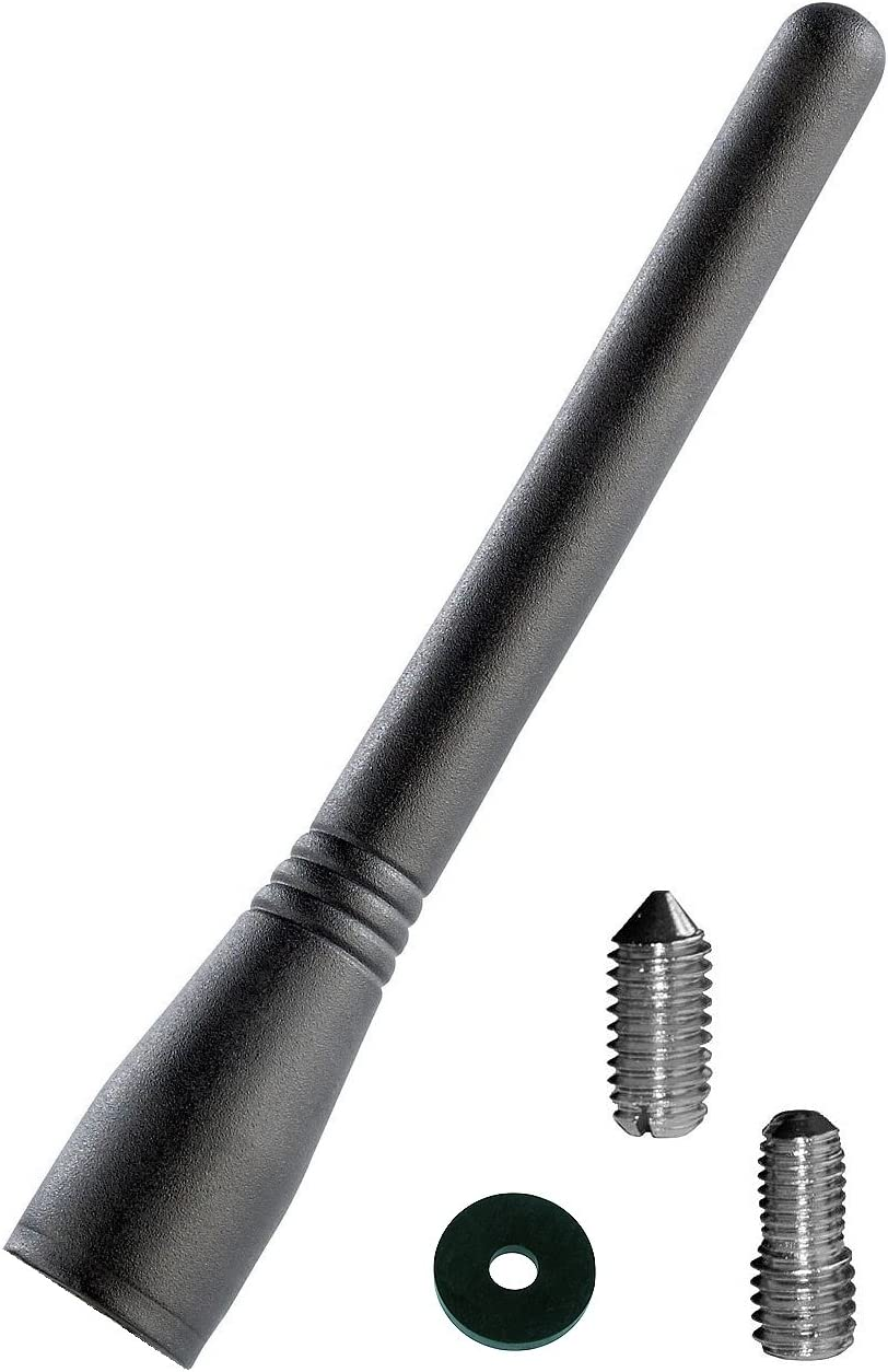 iapyx - Antena de varilla corta universal con aspecto de 16 V, incluye adaptador y junta de goma