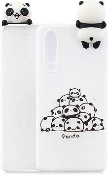 HopMore Compatible pour Coque Huawei P30 Lite Silicone Souple 3D Design Motif Panda Licorne Drôle Etui Antichoc Mince Housse Protection pour Fille ...