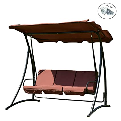 Amazon Com Eight24hours Outdoor Patio Swing Canopy 3 Person Awning