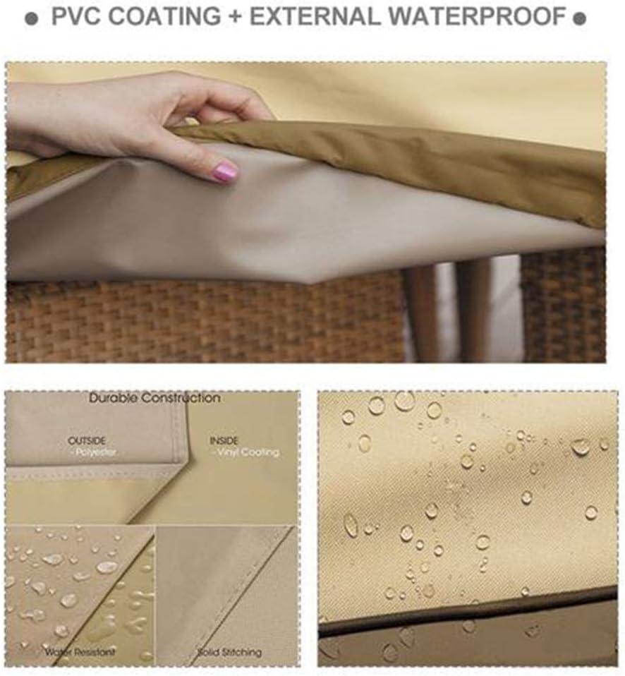Coprire per Sedie da Giardino Anti-UV Telo di Copertura Sagomato per Poltrona A Seduta Profonda da Lounge Impermeabile