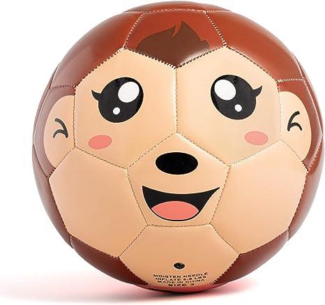 YANYODO Balón de fútbol de 6 Pulgadas con Dibujos Animados de TPU ...