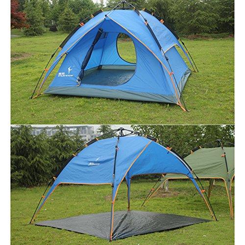 組み合わせ投票行政TY&WJ キャンプテント,自動 ドーム テント フィールドごと 登山 ハイキング 二重層 3-4 人防雨 ティーピー ファミリールーム 3-4 名