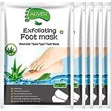 Foot Peel Mask 5 Pack, Aloe Foot Mask Peeling Off Calluses Dead Skin Repair Rough Heels, Baby Soft Smooth Touch Feet-Men Women