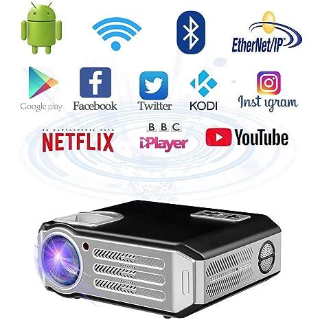 WiFi proyector 1080p Full HD WiFi Proyector (4800 lumens proyector ...