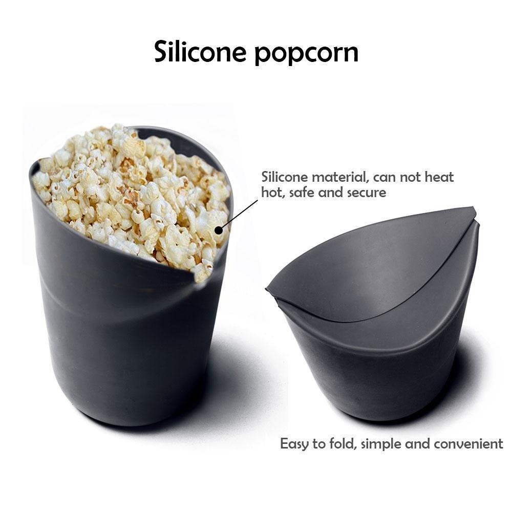Microondas palomitas de maíz eléctrica, AOLVO silicona palomitas de maiz poppers no aceite plegable palomitas cuenco 100% de calidad alimentaria sin BPA, ...