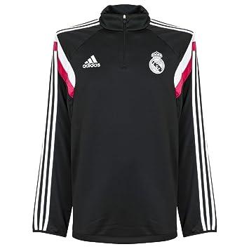 adidas Sudadera Real Madrid Negra-Blast pink: Amazon.es: Deportes y aire libre