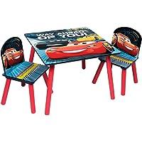 Familie24 3tlg. Holz Kindersitzgruppe Auswahl Tisch + 2X Stuhl Sitzgruppe Kindertisch Frozen Die Eiskönigin My Little Pony Cars
