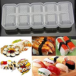 Japan Nigiri Sushi Mold Rice Ball 5 Rolls Maker Non Stick Press Bento Tool
