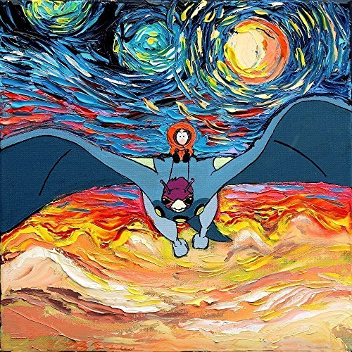 South Park Inspired Art PRINT - Starry Night Kenny - Heavy Metal - van Gogh Never Cheesed - Art by Aja 8x8, 10x10, 12x12, 20x20, 24x24 inches