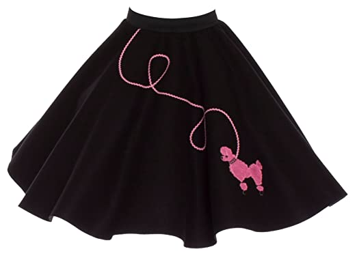 Poodle Skirt For Girls Size Small 4 5 6 Black With Pink