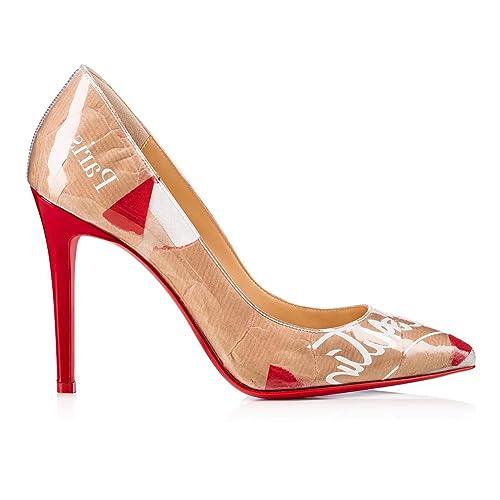 best sneakers 59fbb 6a950 Christian Louboutin Women's 3180597H332 Beige PVC Pumps ...