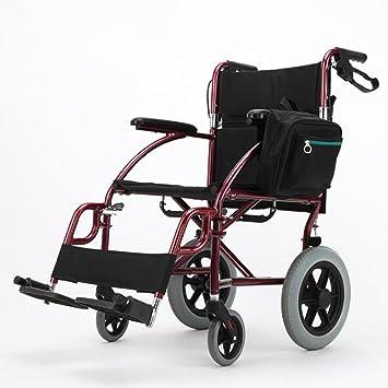 GUO Ultra ligeras pedales de aluminio plegable discapacitados en silla de ruedas recorrido del trole extraíble: Amazon.es: Deportes y aire libre