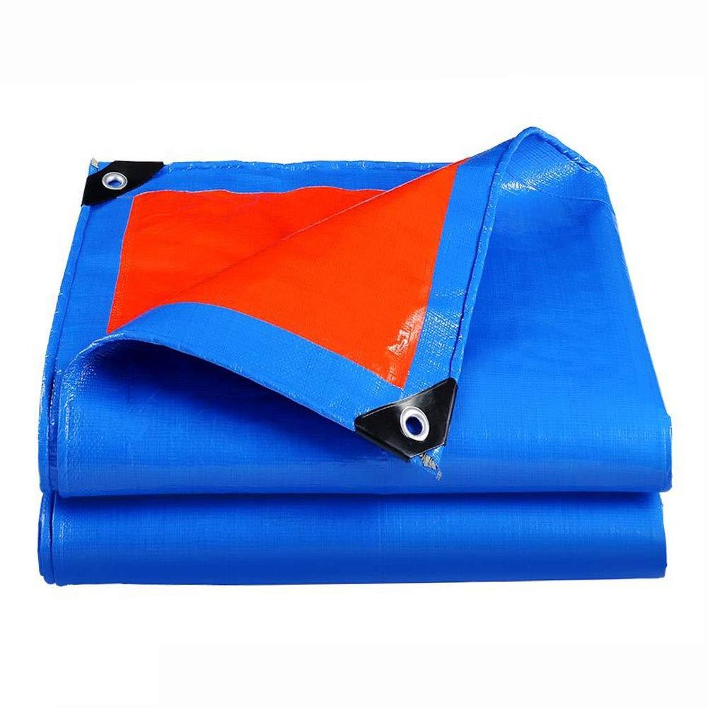 DALL ターポリン 両面防水 PEタープ UV耐性 耐摩耗性 多目的 厚さ0.3mm 複数のサイズ (Color : 青, Size : 10×15m) 青 10×15m