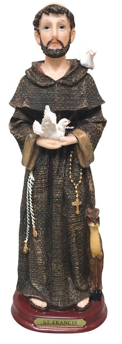 【送料無料キャンペーン?】 Saint Francis Holy Figurine宗教装飾Statue DecorセントFrancis 12 DecorセントFrancis Statue 12 Saint Inch B01AKGMYPM 12 Inch, マタニティ&ベビーのStampskids:8475f482 --- arcego.dominiotemporario.com