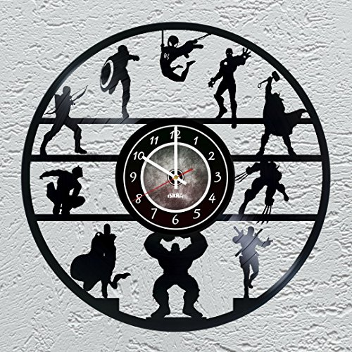 Vinyl Record Wall Clock - Avengers
