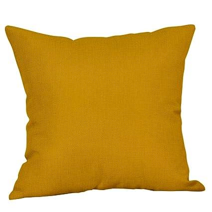 Amazon.com : Hongxin Funda Cojin 45x45cm Mustard Pillow Case ...