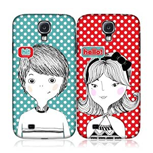 Polka Love Couple Hi Hello Back Case Cover For Samsung Galaxy S4 I9500