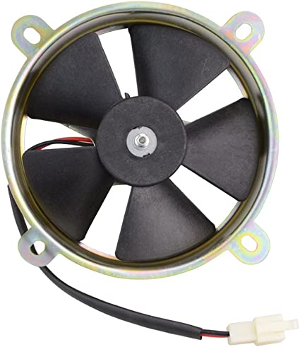 GOOFIT Ventilador Radiador 12V Moto DC Refrigerante Redondo para ...