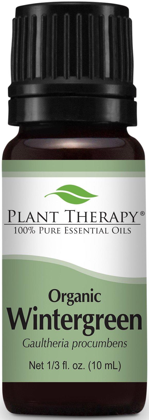 Plant Therapy USDA Certified Organic Wintergreen Essential Oil. 100% Pure, Undiluted, Therapeutic Grade. 10 ml (1/3 oz).