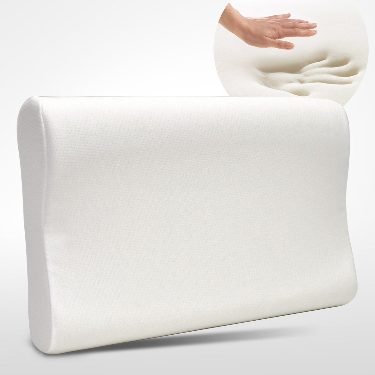 Dasein Premium Contour Memory Foam Pillow with Washable Fabric Cover - Standard Size