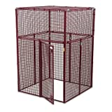 Animal House Ultra Heavy Duty Outdoor Protective Kennel (7.5' Hx5'Lx5'W) 298.5 lbs