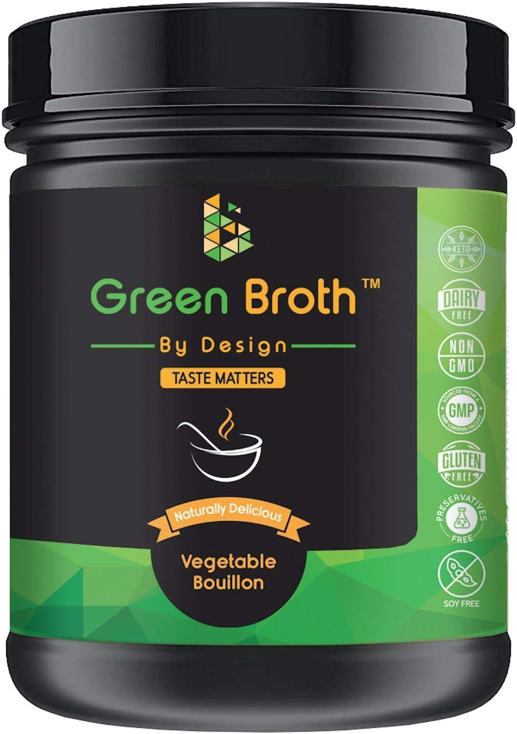 Organic Pea Protein • Vegetable Bouillon Natural Flavor • Keto • Non-GMO • 21 Portions • Protein/340g Jar • Broth by Design