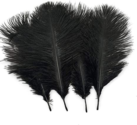 25-30cm Gray Sowder 20pcs Natural 10-12inch Ostrich Feathers Plume Wedding Centerpieces Home Decoration