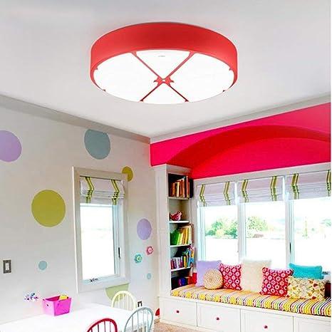Cartoon creativos niños LED Lámpara de techo de protección ...