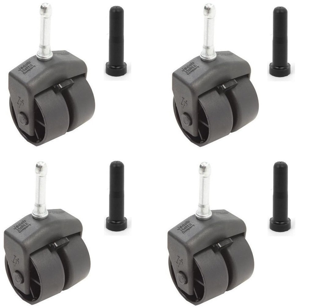 Set of 4 Locking Bed Frame Casters with Sockets
