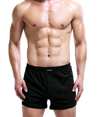 Tootless-Men Workout Eco-Friendly Solid Color Cozy Briefs Boxer Black M e4d8deeb2