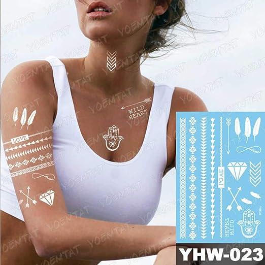 adgkitb 3 Piezas Temporal Impermeable Tatuaje Pegatina para Mujer ...