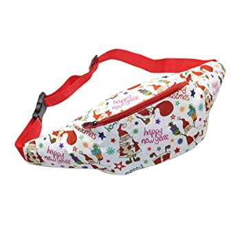 c6a80da9e719e1 Children's Christmas gift 3D printed Santa Claus fanny packs Waist Pack Bag  Fanny Pack for Men