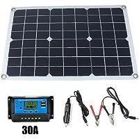 Adore store 50w 12v / 5v silicio monocristalino del Panel Solar de Doble Salida USB Electronic Product Solar-batería…