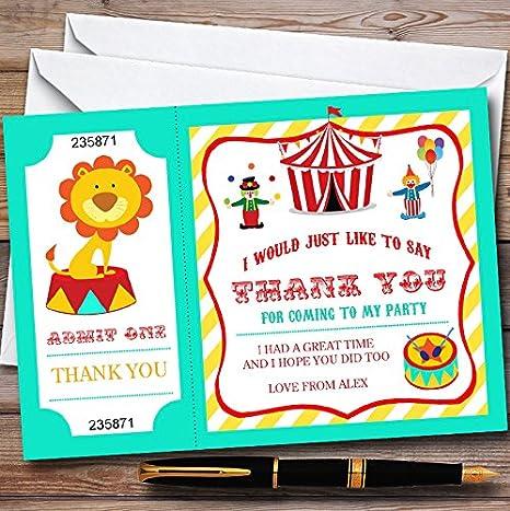 Amazon.com: Verde y amarillo circo personalizable para niños ...