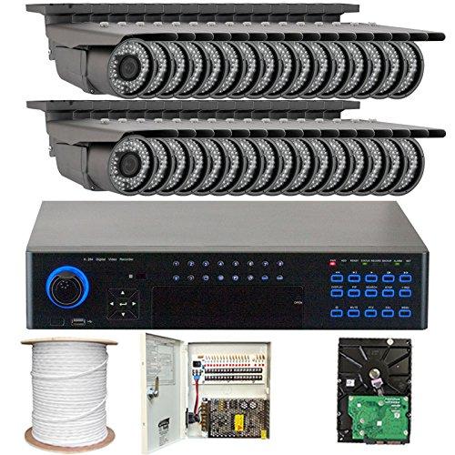 GW Security 32CHE15 32 Channel H.264 960H Realtime DVR with 32 x Effio-E Camera 700TVL, Varifocal Lens Security Camera…
