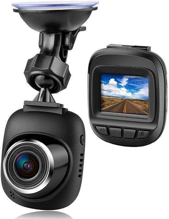 "Explon Mini Dash Camera - 1080P Full HD Car Dashboard Recorder, 1.5"" LCD, Wide Angle, GPS G-Sensor, Loop Recording, WDR Night Vision, Uber Cars"